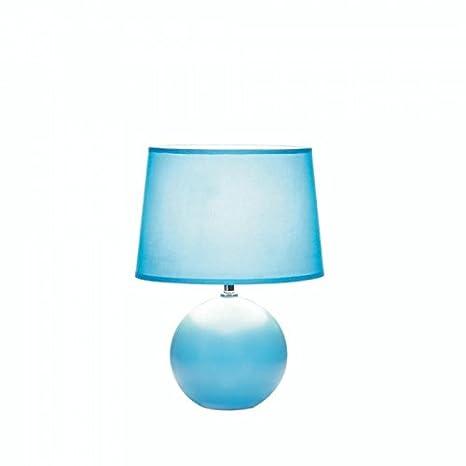 Ceramic Sphere Base Table Lamp Blue Amazon Com
