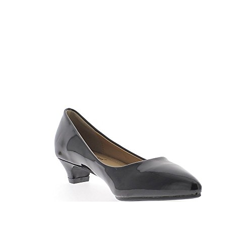 ChaussMoi Zapatos Negros Polaco Afilados Tacones Pequeños DE 3,5 cm