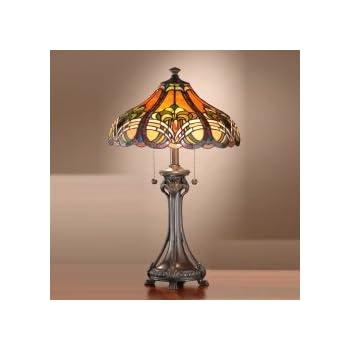 Dale Tiffany TT101033 Bellas Table Lamp, Antique Bronze