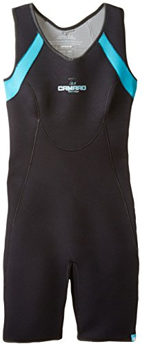 Camaro Women's Baselayer Titanium Shorty Waterproof 2mm Zipperless Wetsuit, Silver/Black, -