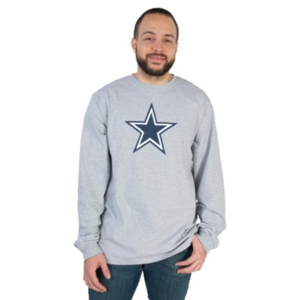 4ff4432b Dallas Cowboys Logo Premier Long Sleeve T-Shirt (Athletic Grey, XL)