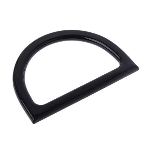 VIccoo Plastic Bag Handle Replacement for DIY Purse Making Handbag Shopping Tote - Black ()