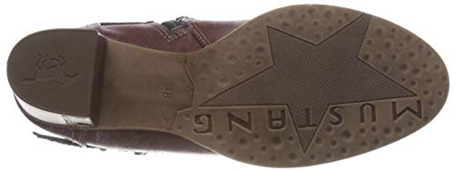 55 Botines Para Mustang Rojo Stiefelette bordeaux Mujer vY5Rq5