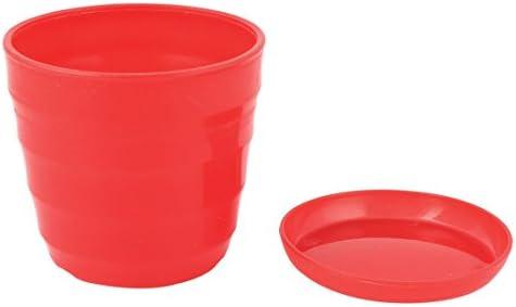uxcell トレイ付き屋内植木鉢 プラスチックプランター ミニプラスチックフラワー苗ポット 家の装飾 直径11 cm オレンジ