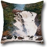 oil-painting-almeida-janior-votorantim-waterfall-pillow-covers-16-x-16-inch-40-by-40-cm-for-seatchri