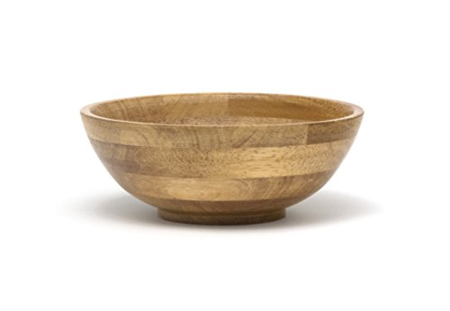 Lipper International 373 Oak Finished Footed Salad Serving Bowl, Small, 7
