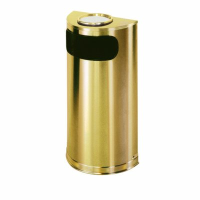 European Designer Metallic Half Round Receptacle [Set of 3] Color: Satin Brass Stainless Steel, Sand Urn: Not Included