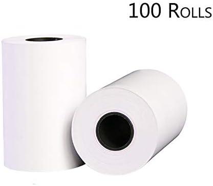 57 x 40 mm weiße Thermobandpapierrollen - für Einkaufszentren, Kassen, Restaurants und Hotels, die Papier-Umweltschutz und Sicherheit drucken-100rolls