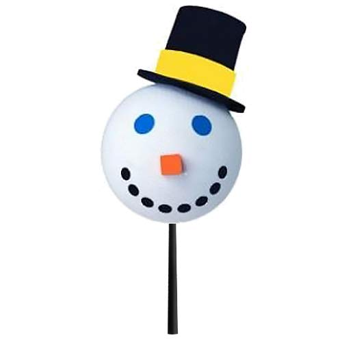 Jack in The Box - Original Year 2005 Snowman Car Antenna Topper/Mirror Dangler/Desktop Spring Stand + Happy Face Antenna Ball