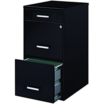 Wonderful Space Solutions 3 Drawer File Cabinet, 18 Inch Deep, Black Good Ideas