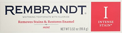 (Rembrandt Toothpaste, Intense Stain, Mint Flavor, 3.52 oz (2 Pack))