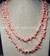 White Pearls Pink Coral Necklace - Handmade 120cm genuine pink coral white freshwater pearl necklace 48'' Y22204