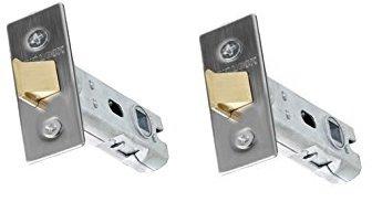 Gridlock - 2 pasadores de cerradura tubulares de alta calidad diseñados para puertas interiores