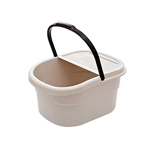 Plastic Square Foot Bath,Household Foot Spa,Thicken Heightening Foot Bath Barrel Relaxes Overworked Aching Feet-b 38x25x20cm(15x10x8inch)