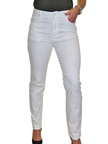 Con Tela Cintura Blanco Brillo Alta 38 52 Para Jeans Mujeres O1qnwvICX