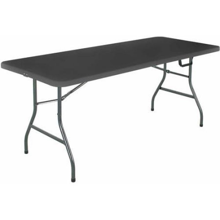 CCS 6 Foot Steel Frame Fold In Half Folding Table 6 Foot Table