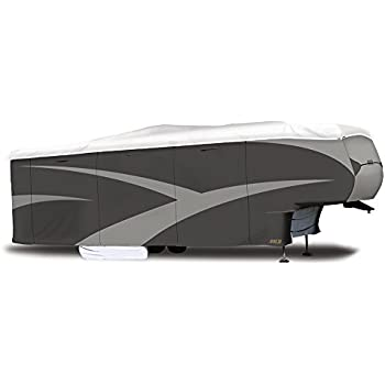 "ADCO 34854 Designer Series Gray/White 28' 1"" - 31' DuPont Tyvek Fifth Wheel Trailer Cover"
