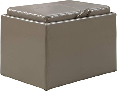 Convenience Concepts Modern Accent Storage Ottoman
