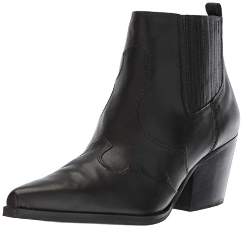 (Sam Edelman Women's Winona Western Boot Black Leather 6.5 M US)
