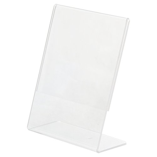 Clear-Ad - LHA-46 - Acrylic Slanted Sign Holder 4x6 - Plexiglass Table Menu Card Display Stand - Plastic Picture Frame Wholesale (Pack of 100) by Clear-Ad (Image #2)