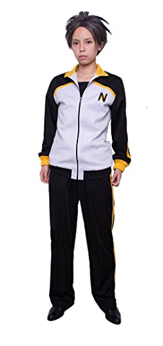 [ROLECOS Natsuki Subaru Sports Suit Casual Athletic Tracksuit Cosplay Costume L] (Costumes Starting With L)