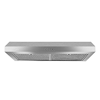 """Under Cabinet Range Hood, Sattiz 30"""" 350CFM Stainless Steel Wall-Mounted Kitchen Range Hood Vent Cooking Fan with Aluminum Filters and LED Lighting"""