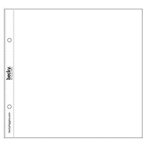 Project Life - 8x8 Scrapbook Page Protectors Becky Higgins LLC
