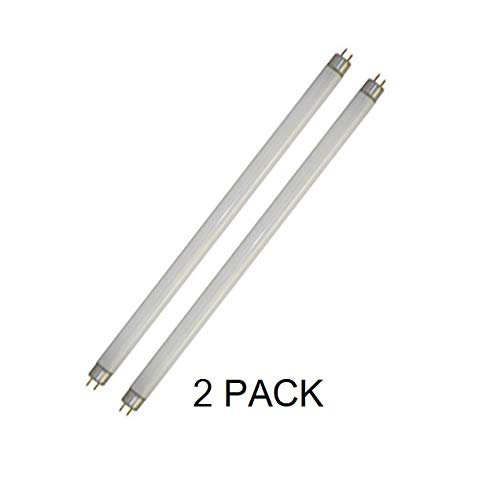 Technical Precision 20 Watt Zapper Replacement Bulbs - T8-10 Watt UV Tubes for Kill Pest - Fits Most 20 Watt Bug Zappers - 2 Pack 13.6 Inches Overall Length ()