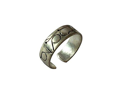 Tibetan Om Mani Padme Hum Healing Ring (Silver Plated)