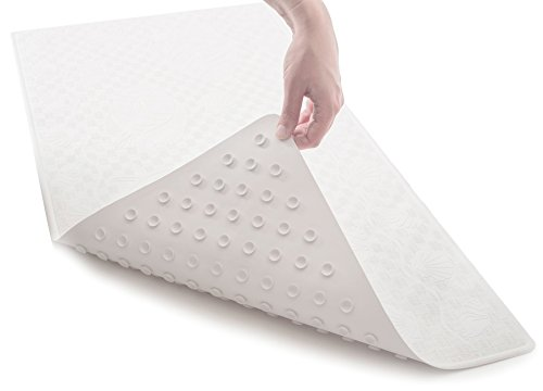 "[50% OFF - Sale Ends Jan 31] Non Slip Bathtub Mat (Extra Long) - Non-Toxic (PVC- & BPA-Free), Anti Bacterial, Latex-Free Natural Rubber | Original GripTight (TM) Technology | 36"" x 18"""