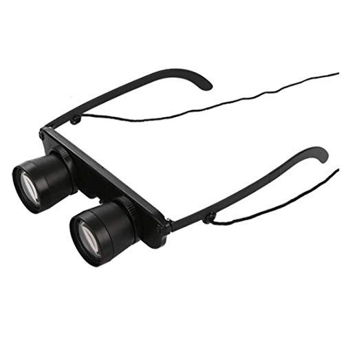 Ants-Store - Schwarz 3x28 Brille Vergroesserungsglas Lupenbrille Brillenlupe Glaeser Stil Angel Reise Fernglas Theater Lup Fisch Optics Fer (Stil Brille)