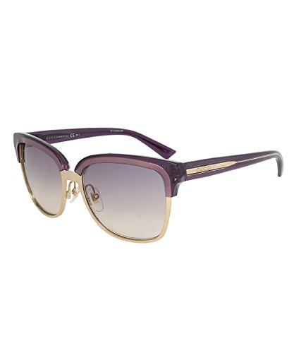 Gucci Women's GCC4246S Sunglasses, Gold/Violet/Crystal - Gucci Runway Sunglasses