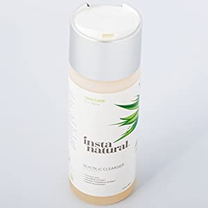 InstaNatural Glycolic Facial Cleanser - Anti Wrinkle, Fine Line, Age Spot & Hyperpigmentation Face Wash - Clear Dead Skin & Pores - With Glycolic Acid, Organic Extract Blend & Arginine - 6.7 OZ