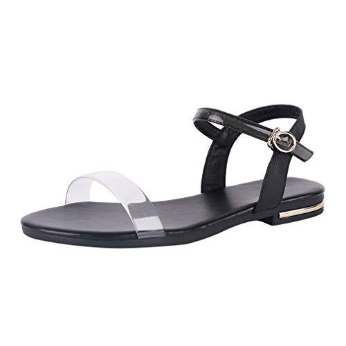 Sandales Talons Avec Noir D'été Femme Vitalo Chaussures Ouverte Cheville La Dragonne Décolte Ciabatta À ISxHqT