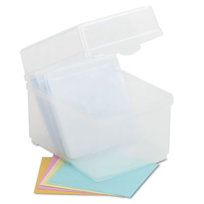 CD/DVD Storage Box, Holds 100 Discs, Sold as 2 Each by Innovera (Image #2)