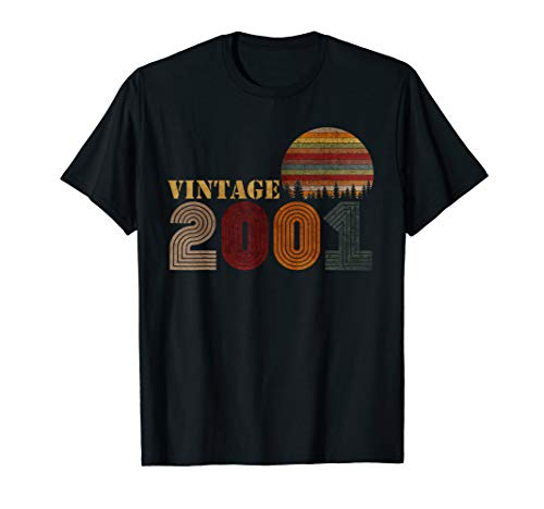 Vintage Retro 2001 T-Shirt 18 Years Old 18th Birthday Gift (Best Birthday Gift For 18 Year Girl)