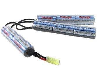 Tenergy 9.6V 5000mAh Crane Stock NiMH Battery Pack for Airsoft