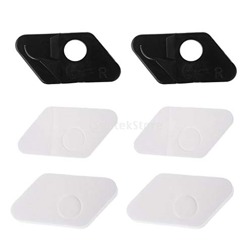 2 Pieces Recurve Bow Adhesive Right Hand Arrow Rest Hunting Archery Black