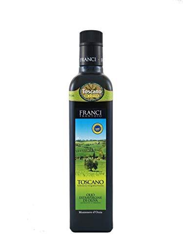 (Frantoio Franci IGP Toscano | Italian Extra Virgin Olive Oil from Tuscany | 2018 Harvest | Varietal Blend | 0.5 Liter (16.9 Ounce) Dark Glass Bottle)
