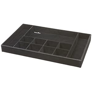 Organized Living freedomRail Jewelry Organizer Insert for OBox - Black
