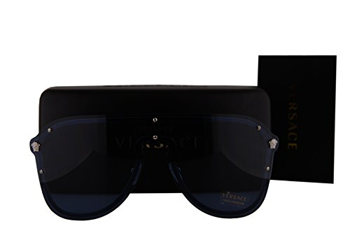 Versace VE2180 Sunglasses Silver w/Blue Lens 100080 VE - Glasses Rimless Versace