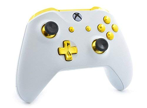 White/Gold Smart Rapid Fire Custom Modded Controller for Xbox One S Mods FPS Games and More. Control and Simply Adjust… 3