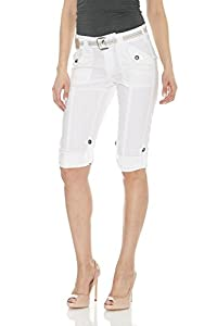 Suko Womens Cargo Capri Pants - Adjustable Length - Stretchy - Size 2 to 22 Plus