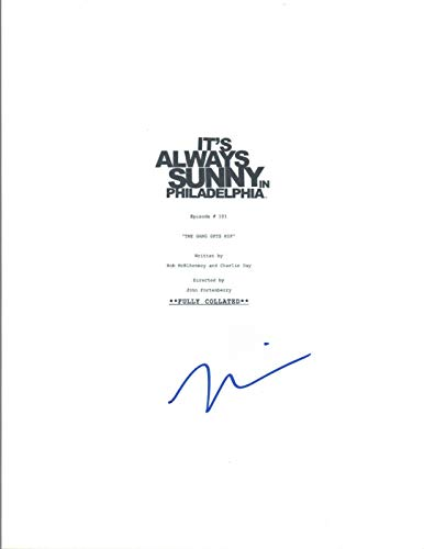 Mary Elizabeth Ellis Signed It's Always Sunny in Philadelphia Pilot Script COA (Its Always Sunny In Philadelphia Pilot Script)