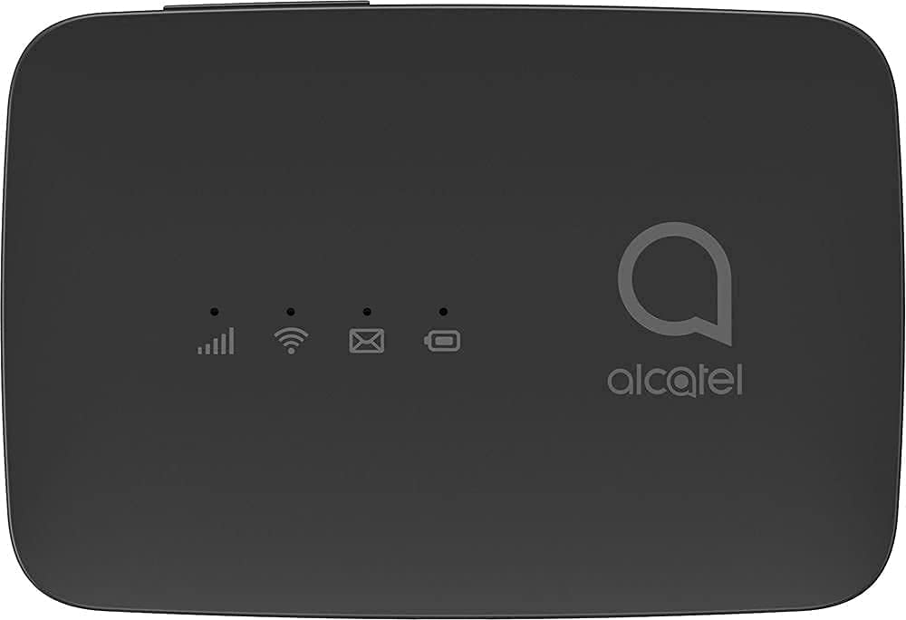 Alcatel LINKZONE Version 2021 MW45AN | Mobile WiFi Hotspot | 4G LTE Router | Up to 150Mbps | Connect Up to 10 Devices | Create A WLAN Anywhere (AT&T, T-Mobile, Metro, Cricket, Latin America) - Black