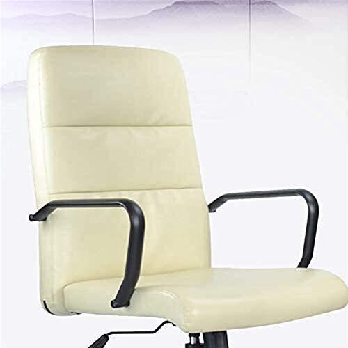 med ländrygg stöd modern minimalistisk datorstol, hushåll svängbar stol med stativ, kontorsstol i läder