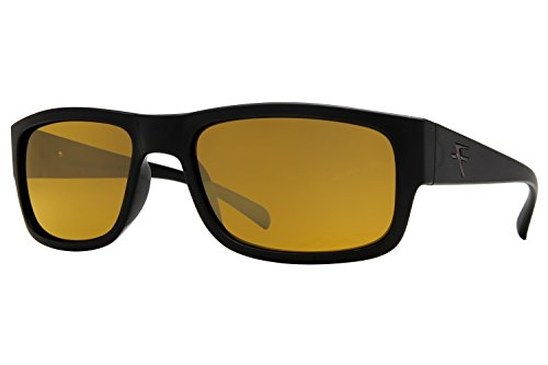 Fatheadz Eyewear Men's Modello V2.0 FH-V031-1BR Polarized Rectangular Sunglasses, Black, 63 - Amazon Fatheadz Sunglasses