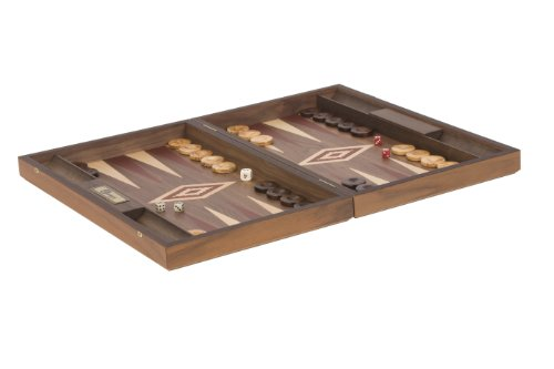 Uber Games Walnut Backgammon Set - Red