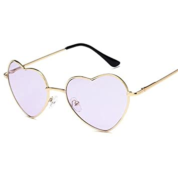 GGSSYY Tipo de corazón Gafas de sol Mujer Rojo Amarillo Azul ...