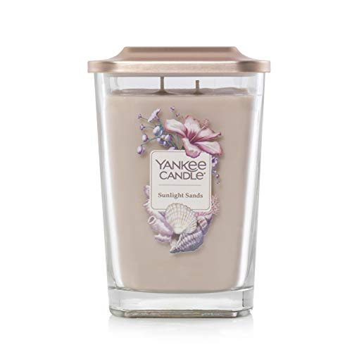 Yankee Candle Elevation Collection with Platform Lid Large 2-Wick Square Candle Sunlight Sands ()